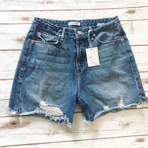GOOD AMERICAN Cutoff  High Waist Jean Shorts #197